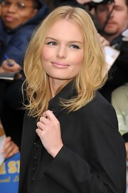 Kate Bosworth played down her pout with some nude lipstick.