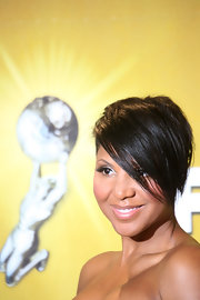 Toni Braxton stayed on trend with this short emo cut at the 2010 NAACP Image Awards.