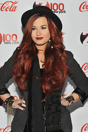 Demi Lovato went for edgy styling with a chain-embellished leather bracelet at Z100's Jingle Ball 2011.