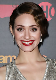 Emmy Rossum went for retro glamour with this finger-wave updo at the 'Shameless' season 2 premiere.