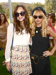 Ashley Madekwe kept the rays out with a pair of oversized sunnies during the Veuve Clicquot Polo Classic.