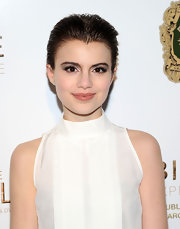 Sami Gayle swiped on lots of gray eyeshadow for a bold beauty look.
