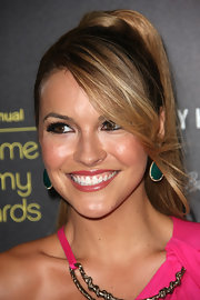 Chrishell Stause looked stylish wearing this high ponytail with side-swept bangs at the 2012 Daytime Entertainment Emmy Awards.