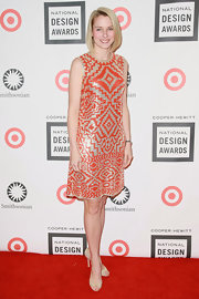 Marissa Mayer went for a '20s-inspired look with this sequined shift dress at the National Design Awards Gala.