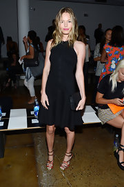 Kate Bosworth added a touch of print with a pair of floral strappy sandals by Tabitha Simmons.
