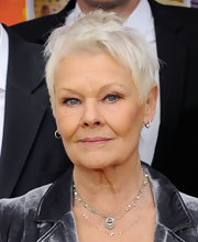Judi Dench went edgy with this messy cut at the New York premiere of 'The Best Exotic Marigold Hotel.'