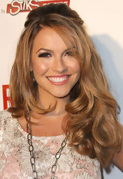 Chrishell Stause rocked a big half-up hairstyle at the (RED)RUSH Games Party.