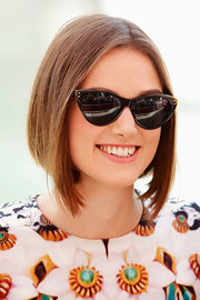 Keira Knightley attended the photocall for 'A Dangerous Method' looking retro-chic in her Ralph Lauren cateye sunnies.