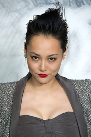 Rinko Kikuchi was rocker-glam with her fauxhawk at the Chanel Couture Fall 2012 show.