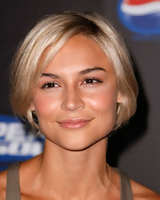 Samaire Armstrong looked adorable it her face-framing bob at the Pepsi 500 event.