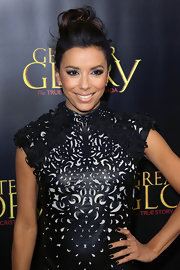 Eva Longoria rocked black nail polish with her leather LBD at the premiere of 'For Greater Glory.'
