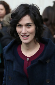 Clotilde Hesme attended the Chanel Fall 2013 show wearing a wavy bob.