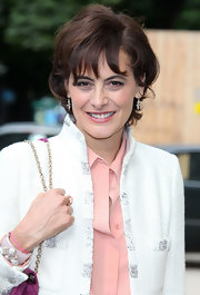 Ines de la Fressange showed off a perfectly styled bob at the Chanel fashion show.
