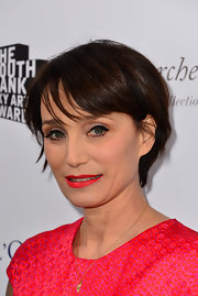 Kristin Scott Thomas wore a stylish short 'do at the South Bank Sky Arts Awards.