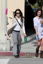 Jessica Biel looked comfy in gray yoga pants while out and about in Studio City.