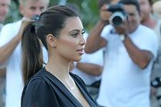Kim Kardashian kept it simple and youthful with this ponytail while out in Miami.