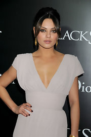 Mila Kunis' black mani added a touch of goth to her look during the premiere of 'Black Swan.'