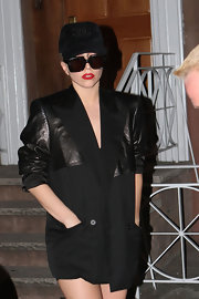 Lady Gaga tried to keep a low profile with a Chanel baseball cap and a pair of oversized shades.