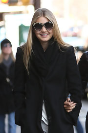 Gigi Hadid was spotted out in New York City wearing a pair of print sunglasses.