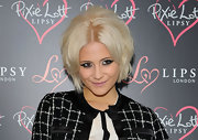 Pixie Lott attended the launch of her new clothing line rocking a retro bob.
