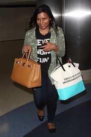 We're crushing on Mindy Kaling's Kate Spade 'Tequila is Not My Friend' bag.