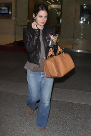 Rachel Bilson was spotted on Sunset Blvd. rocking a pair of washed-out boyfriend jeans.