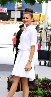 Zendaya Coleman was spotted out in New York City carrying a chic Louis Vuitton duffle.