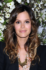 Rachel Bilson styled her look with a bronze tribal necklace by Pamela Love.
