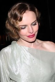 Kate Bosworth completed her costume-y look with lots of metallic silver eyeshadow.