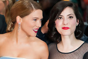 Lea Seydoux glammed it up with a pair of diamond chandelier earrings at the Cannes Film Festival premiere of 'Jimmy P.'