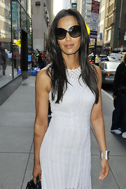 Padma Lakshmi hid her eyes behind a pair of oversized sunnies while headed to the 'Today' show.