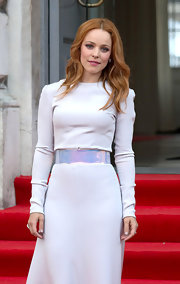 Rachel McAdams expertly contrasted her strawberry locks against an all-white dress for the 'About Time' premiere.