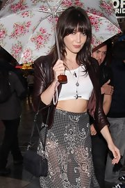 Daisy Lowe adorned her outfit with layers of silver pendants.