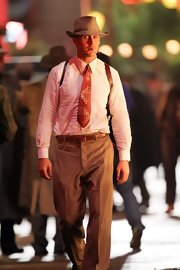 Ryan Gosling proved that leather belts are a renowned classic by sporting one in his period film 'Gangster Squad.'