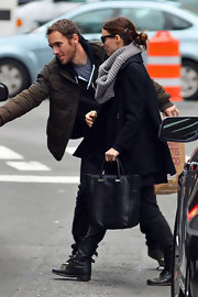 Rooney Mara carried a simple black leather tote while out and about in New York City.