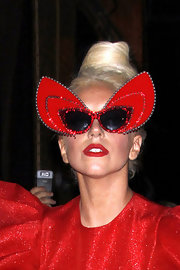 Lady Gaga styled her hair into a beehive for a photoshoot in New York City.