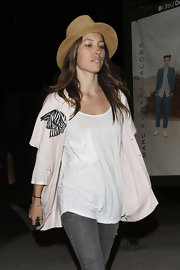 Jessica Biel looked very summery in her straw hat while out in West Hollywood.