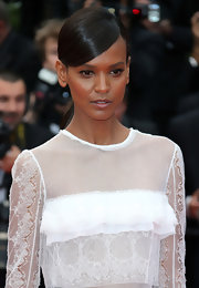 Liya Kebede opted for a simple yet elegant side-parted ponytail when she attended the 'Jeune et Jolie' premiere.