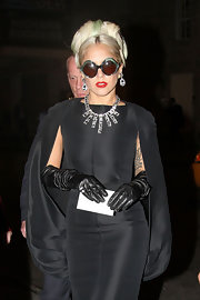 Lady Gaga made quite a fashion statement with that stunning diamond necklace while attending a charity dinner.