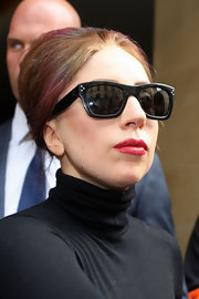 Lady Gaga went for a retro look with this beehive while out in Paris.