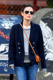 Rachel Bilson looked cool on the streets of Soho in her black aviators.
