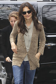 Katie Holmes hid her eyes behind a pair of cateye shades while out in New York City.