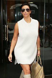 Kim Kardashian looked oh-so-cool in her Celine aviators while out and about in New York City.