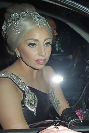 Lady Gaga made a luxurious statement with this bejeweled tiara at the Trevor Live event.