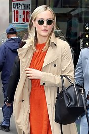 Taylor Schilling sported a pair of round sunnies while out and about in New York City.