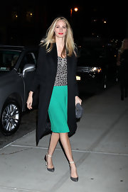 Lauren Santo Domingo arrived for the Obama Victory Fund event looking classic in a black wool coat.