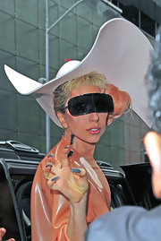 Lady Gaga displayed her pointy gray nails while doing the monster claw.