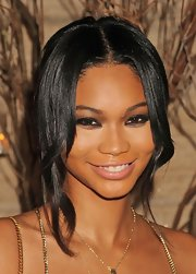Chanel Iman was elegantly coiffed with this loose updo at the Golden Heart Awards.