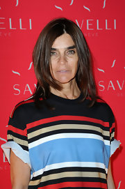 Carine Roitfeld wore her hair in face-framing layers during the Savelli party.