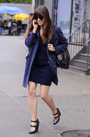 Jessica Biel was spotted out in SoHo wearing vintage-chic strappy pumps by Chanel.